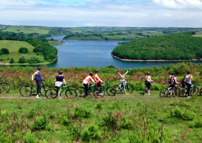 Mountain Biking above Wimbleball Lake