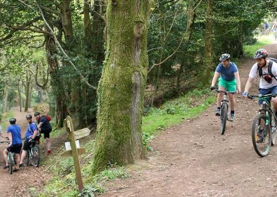 A Mountain Bike group ride on Exmoor