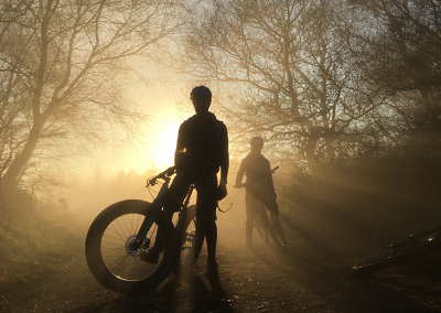 Sunshine on a misty MTB ride