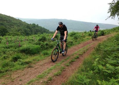 MTB Leadership riding on a trail