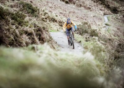 Mountain Biking on an Exmoor bridleway