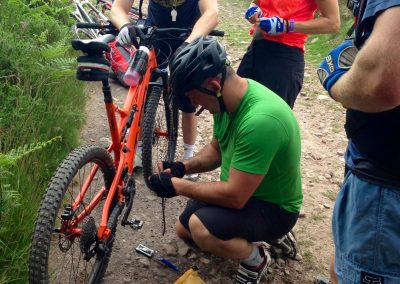Trail repairs on Level 2 MTB Leadership Assessment