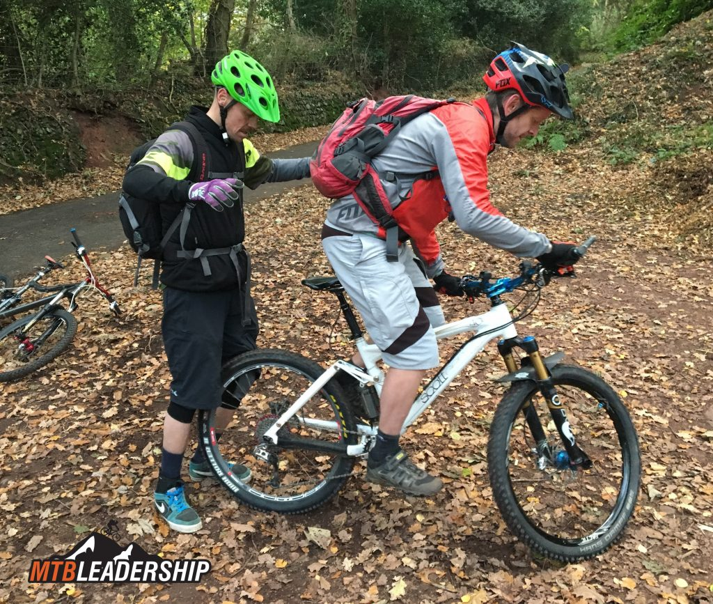 Level 2 MTB Leadership - Practicing Track Stands